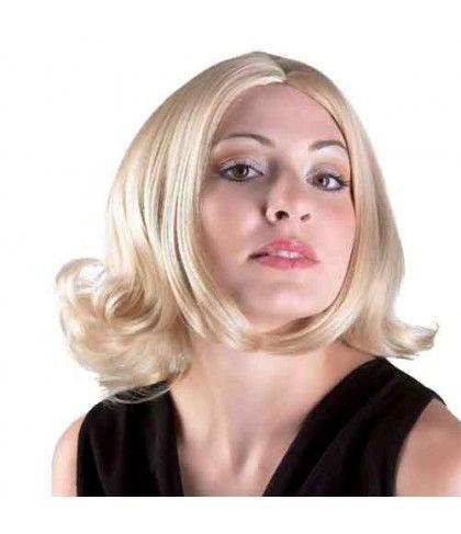 Περούκα Κοντή Deluxe ξανθιά