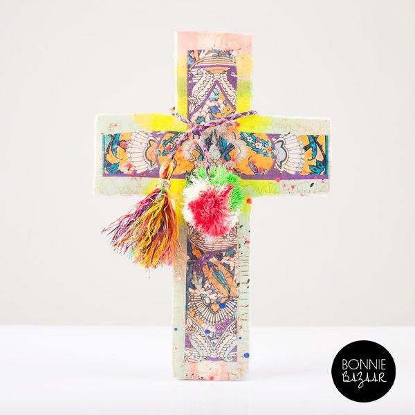 Artist Jai Vasicek's amazing crucifix.  Shop now at BONNIE BAZAAR #bb #bonniebazaar #homewares #shopnow #homedecor #jaivasicek #crosses #australia #interiors #decor
