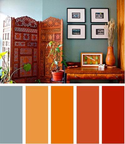 25 best ideas about orange sofa on pinterest orange - Paleta de colores para paredes interiores ...