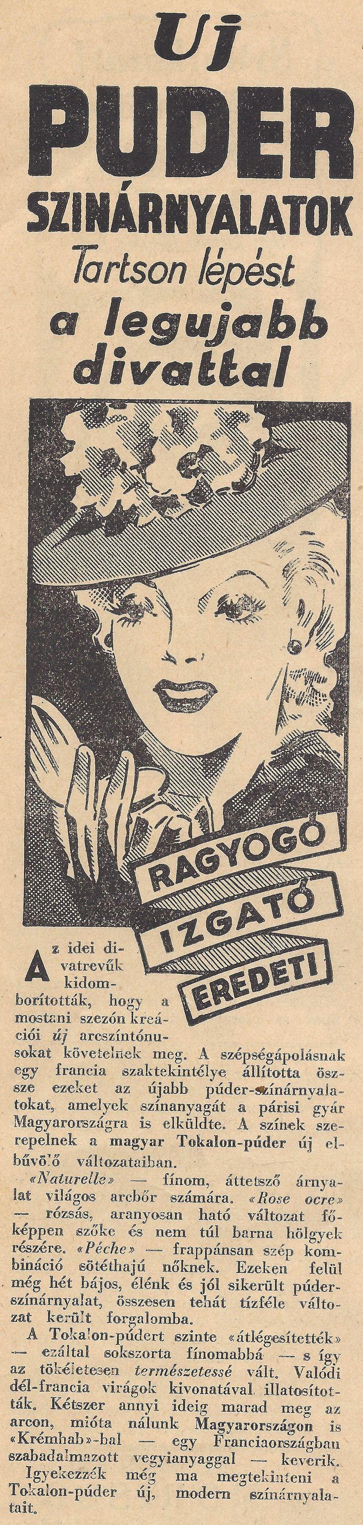 Púder reklám 1939