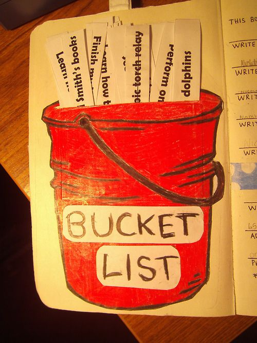 Write down bucket list ideas and include them in your journal!