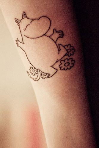 My mumin tattoo  by trampdyna, via Flickr