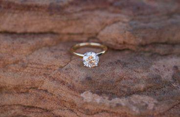Simple engagement rings 24