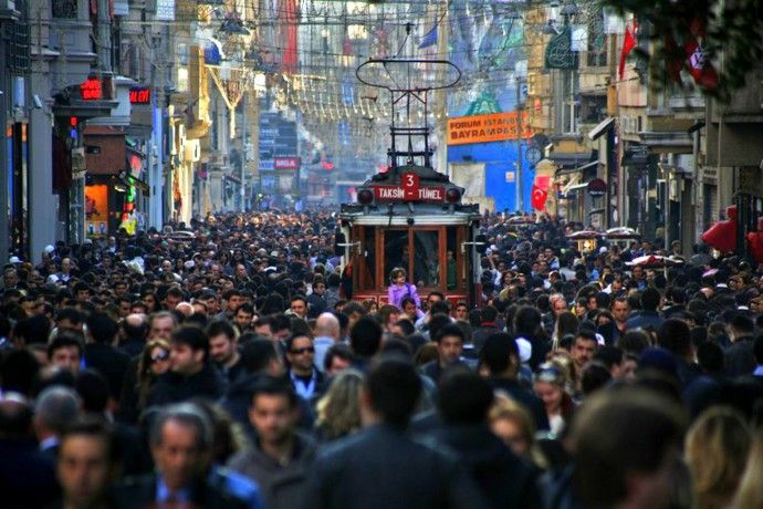 Most popular strolling and shopping street in Istanbul: Istiklal Avenue (Istiklal Caddesi) Great place to hang out after a sightseeing tour in Istanbul Old City.