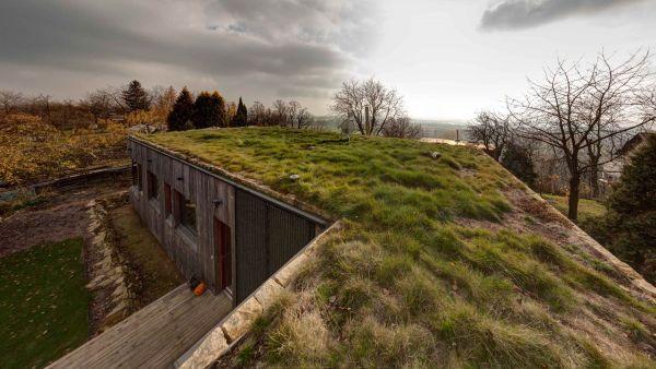 Ak ju však architekti premenia na zelenú lúku, stane sa realitou aj strešné leňošenie v tráve. #ASB #roof #wood #house