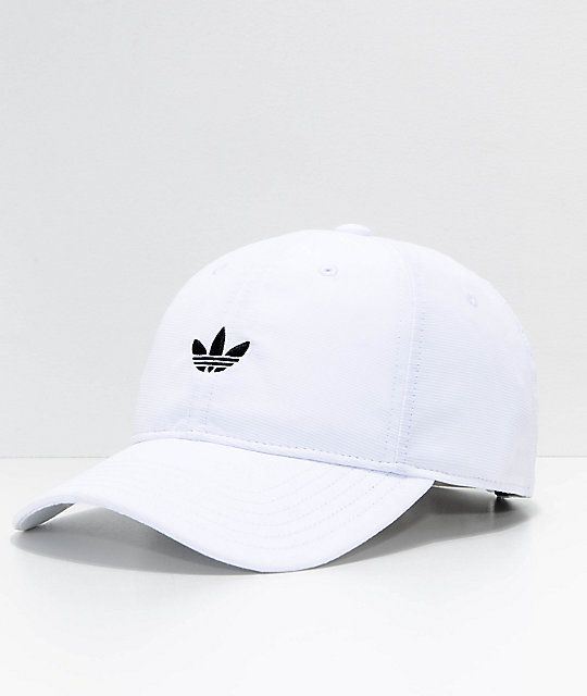 adidas Originals Relaxed Modern White Strapback Hat in 2019  55aff76f63f