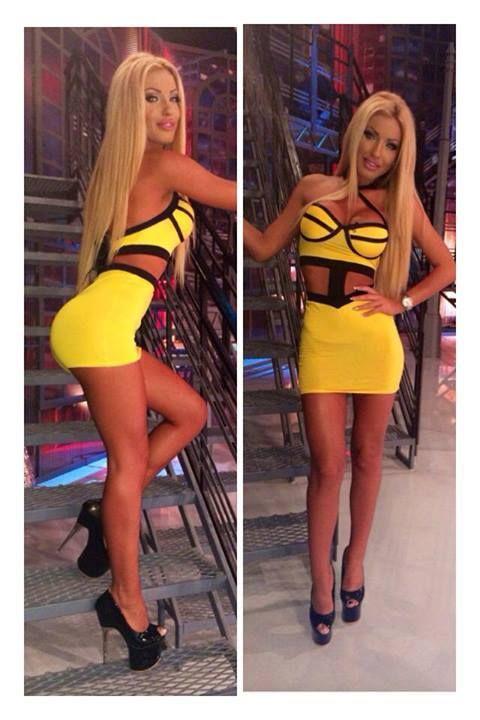 Tight mini dress pinterest yellow