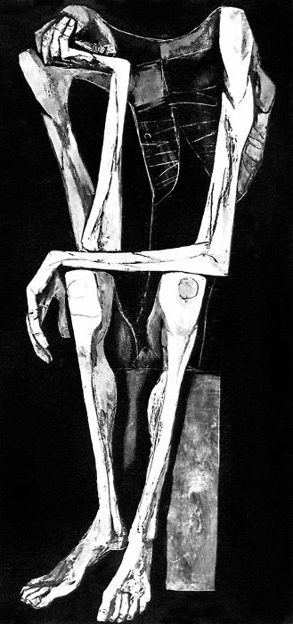 Oswaldo Guayasamin Hand and scale.