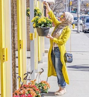 Boyfriend jeans with hijab-Street fashion style – Just Trendy Girls