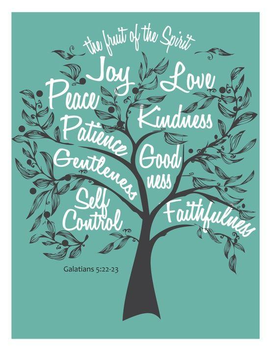 Fruit of the Spirit Digital DIY wall art Galatians 5:22 scripture quote