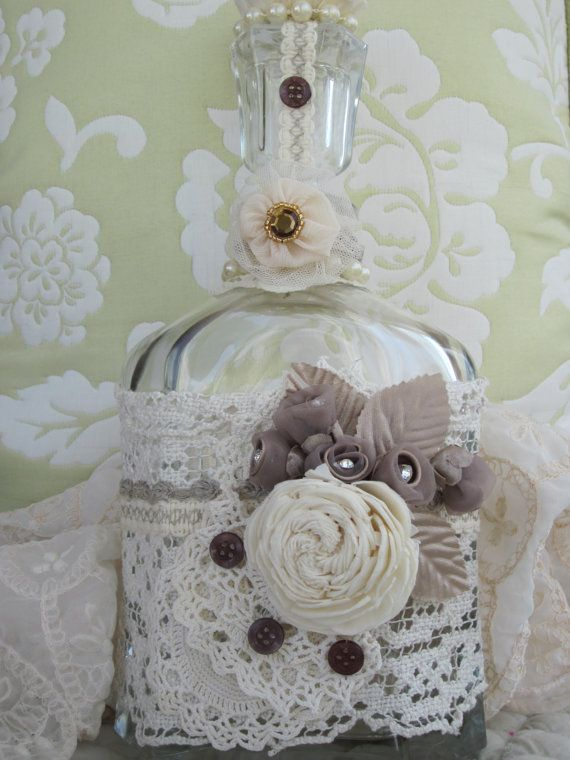 Ultimate Altered Bottle  expensive vintage shabby by ItseeBitsee, $48.00