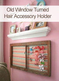 Old Window Turned Hair Accessory Holder #girls #hair_accessories
