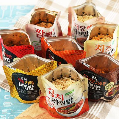 Easy cook Korean food Instant spicy curry bibimbap  Just pour hot water * 5EA