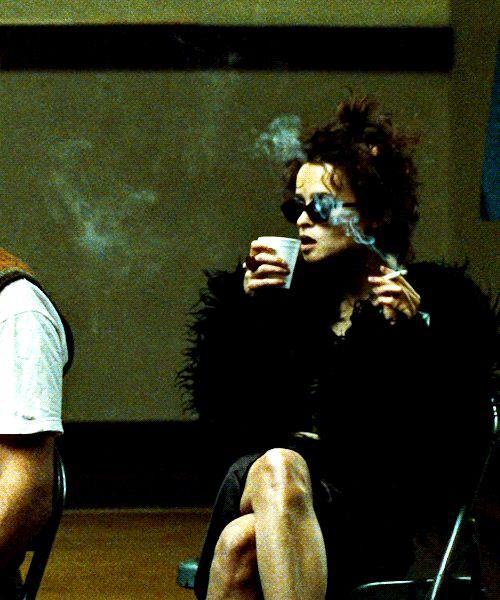 Marla Singer in her shaggy coat. Fight Club (1999). Costume Designer: Michael Kaplan