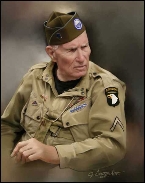 """Ed """"Doc"""" Pepping was a Medic with Easy Company, 2nd Battalion, 506th Parachute Infantry Regiment, 101st Airborne Division, and was one of the men portrayed in the HBO mini-series """"Band of Brothers""""."""