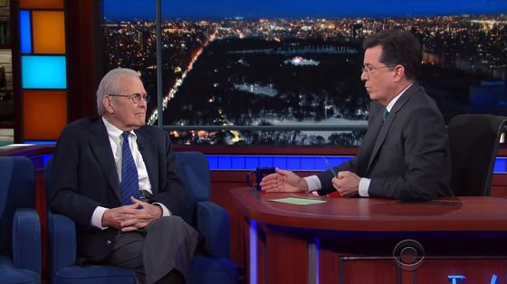 Stephen Colbert Gets Donald Rumsfeld To Admit The Iraq War Was All A Lie (VIDEO) ~ This is why Stephen Colbert is a national treasure.