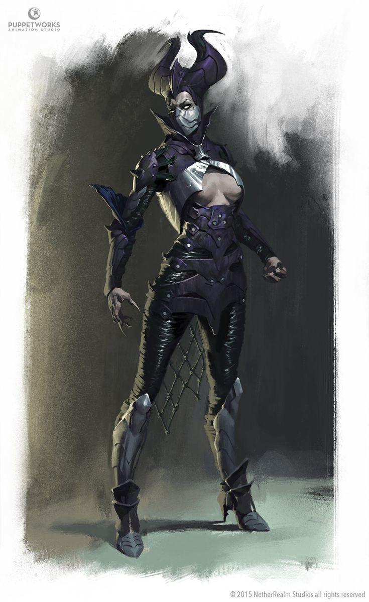 ArtStation - Mortal Kombat X - Dark Empress Kitana, Elekes Aron
