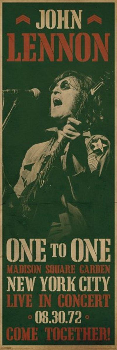 Lennon concert poster 1972                                                                                                                                                                                 Más