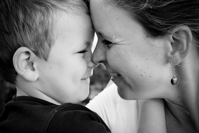 mother son <3 by GreenHairMermaid / Joy-Anne Goodenough, via Flickr