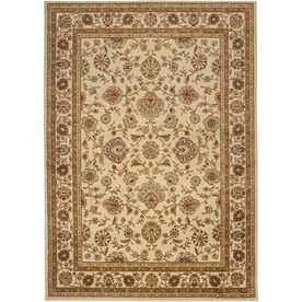 Artistic Weavers Algeria Rectangular Cream Floral Woven Area Rug (Common: 8-ft x 10-ft; Actual: 7.83-ft x 10.25-ft)