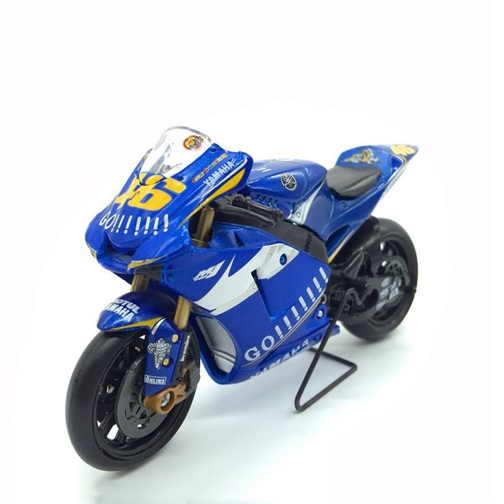 65.00$  Buy now - http://alixn5.worldwells.pw/go.php?t=32775554497 - Yamaha Motorcycle Model Toys 1/18 Scale YZR M1 Go! No.46 Model MotoGP Race Motorbikes Rossi Championship Toys For Children Gifts