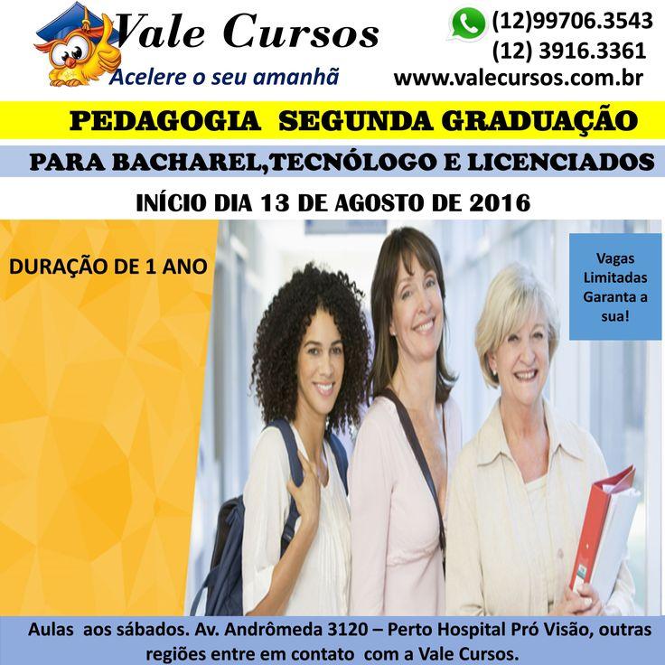Pedagogia para graduados www.valecursos.com.br