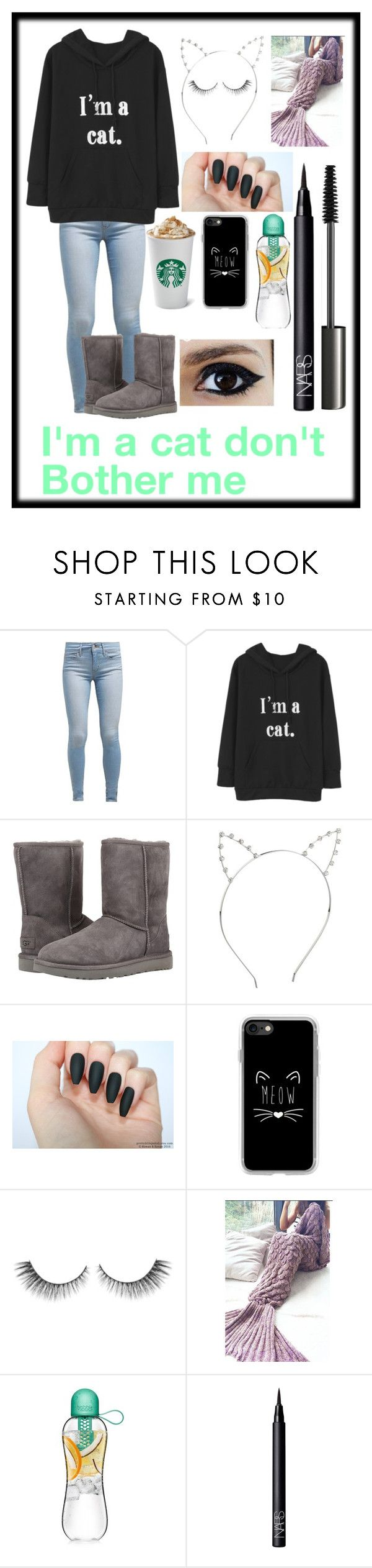 """I'm a cat go away🐱"" by sonjakolecki ❤ liked on Polyvore featuring Levi's, UGG Australia, Casetify, NARS Cosmetics and MAC Cosmetics"
