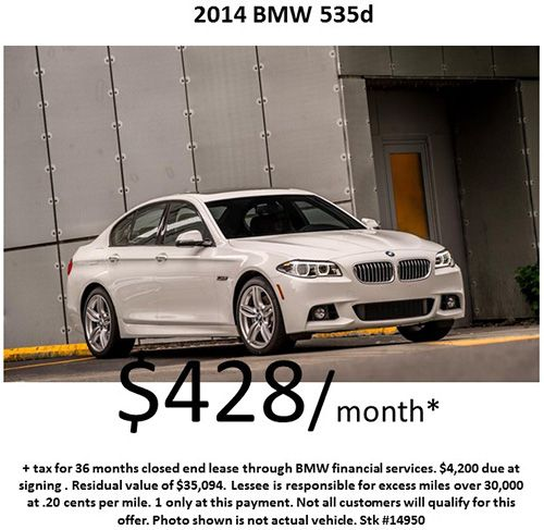 $428/month on a 2014 #BMW 535d! Offer Expires : 10/31/2014 !