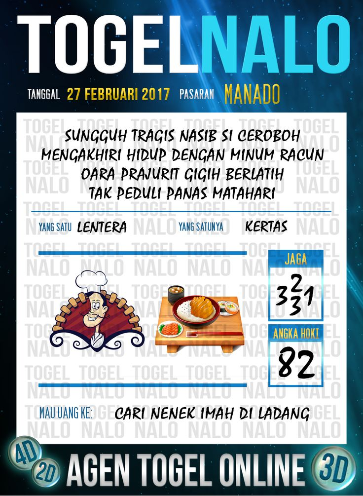 Lotre Taysen 4D Togel Wap Online Live Draw 4D TogelNalo Manado 27 Februari 2017
