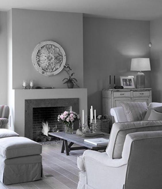 17 best images about cozy chic living rooms on pinterest fireplaces grey and shabby chic - Decorated walls living rooms ...