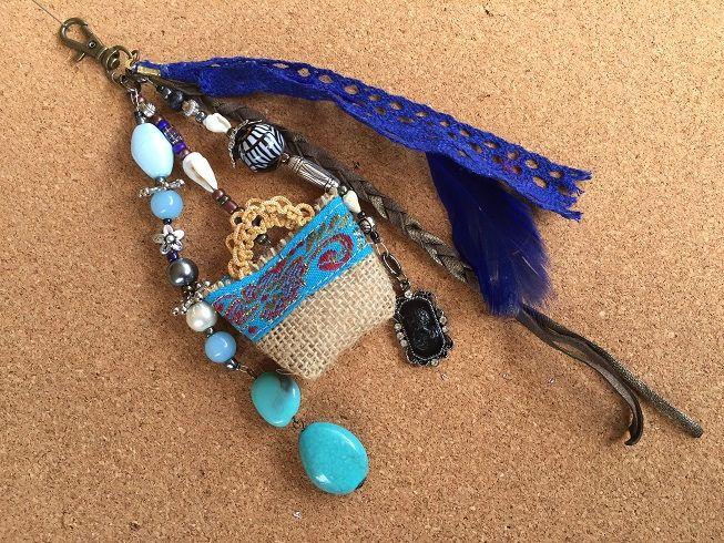 Beach bag charm /gypsy bag charm / bohemian jewellery/key chain boho / gypsy beach bag charm /gift key charm/ key chain boho tassel by BelaCiganaBags on Etsy
