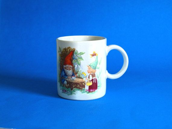 Gnomes Forest Fantasy Mug  Retro Vintage The World by FunkyKoala
