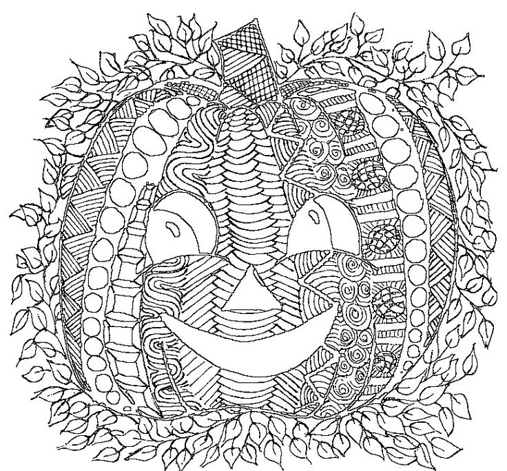 detailed halloween coloring pages - photo#5