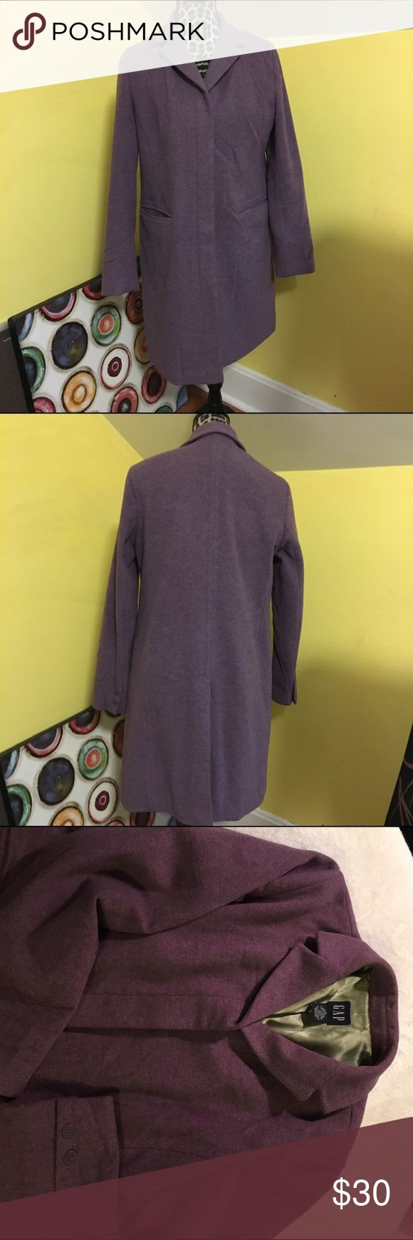 GAP coat GAP coat, size medium. Purple with lime green lining. GAP Jackets & Coats Pea Coats