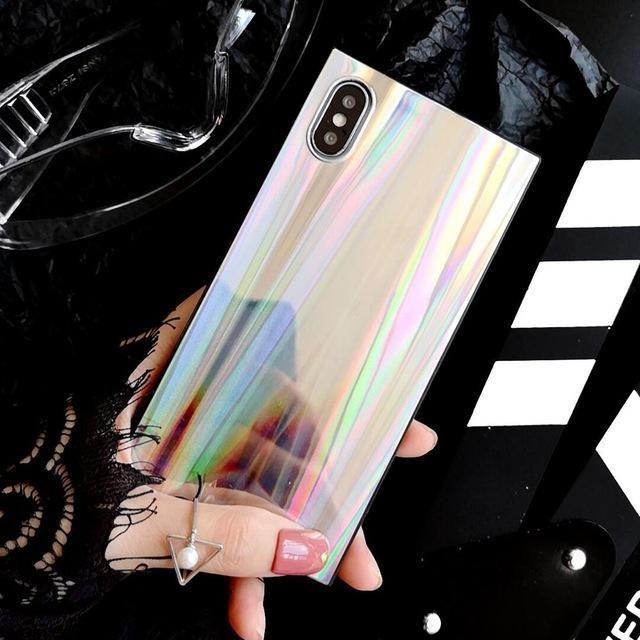 Holo Rainbow Square iPhone Case
