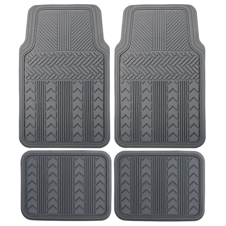 Floor Mats For Car, Car All Weather Floor Mats, Rubber Universal Floor Mat Set