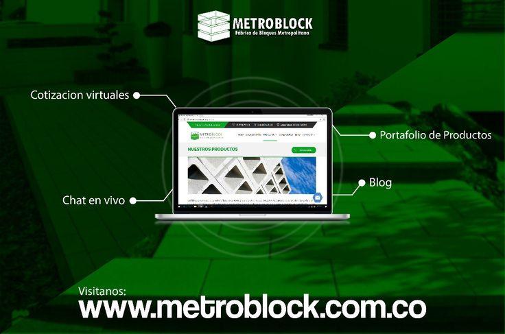 Portal web empresarial Metroblock SAS