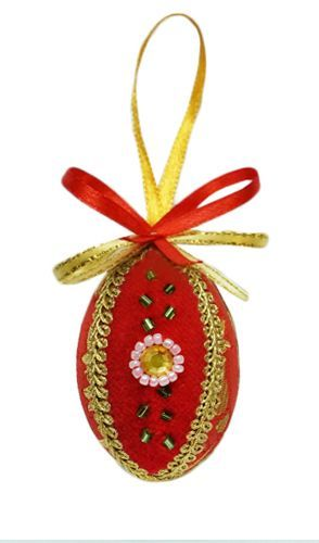 Red decorative egg.  $7.00. #CatalogOfGoodDeeds #CatalogOfStElisabethConvent #gift #present #easter #easter2107 #eastergift #easterideas #decor #craft #woodencraft #ceramic #clay #teaset #cups #bell #ecotoy #decoration #spring #feast #pasqua #CD #egg