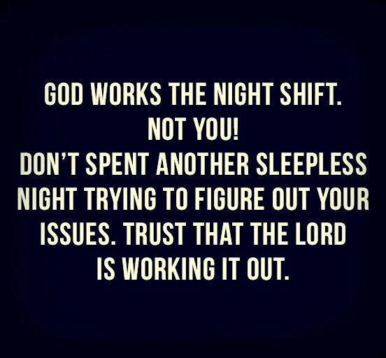 I have a lot of these nights where I just think and think the entire time. It's time to let go and let God do!!! Thank you LORD!!!!!!!!!