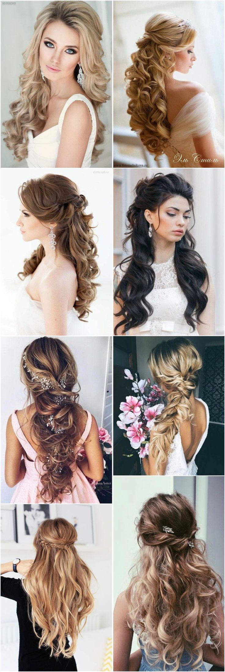 18 kreative und einzigartige Hochzeitsfrisuren für langes Haar #unique # … – Hochzeitsfrisuren