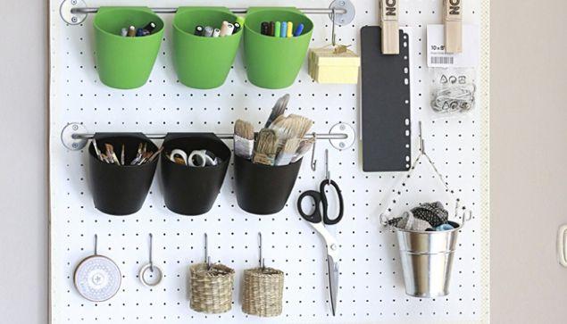Jednoduchý návod, jak si vyrobit víceúčelovou pracovní stěnu - ideální do malých prostor...