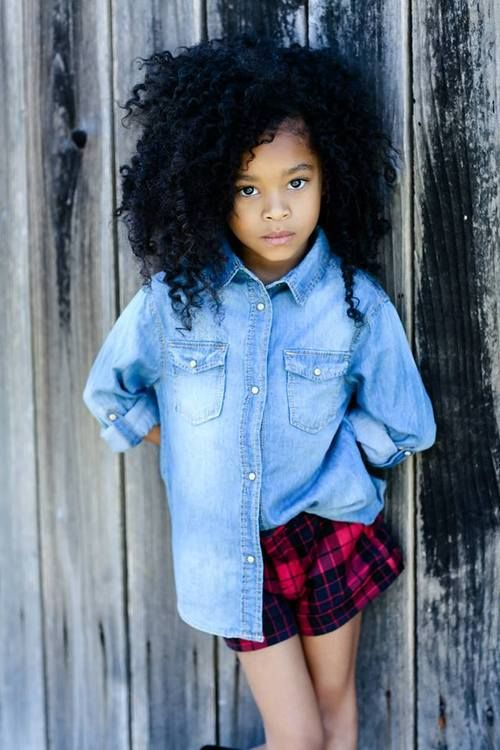 Hair Cute Adorable Beautiful Curls Natural Little Girl