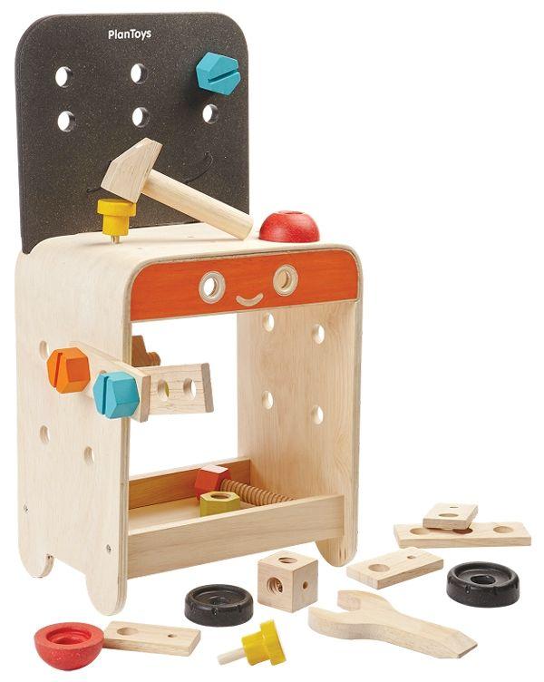 PlanToys, Arbetsbänk med verktyg från Plan Toys hos Stor&Liten