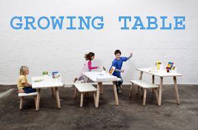 growing table, meegroeitafel voor kinderen