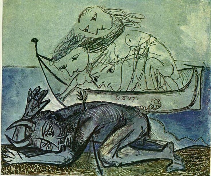 Minotaure Est Blesse 2 Huile Sur Toile De Pablo Picasso