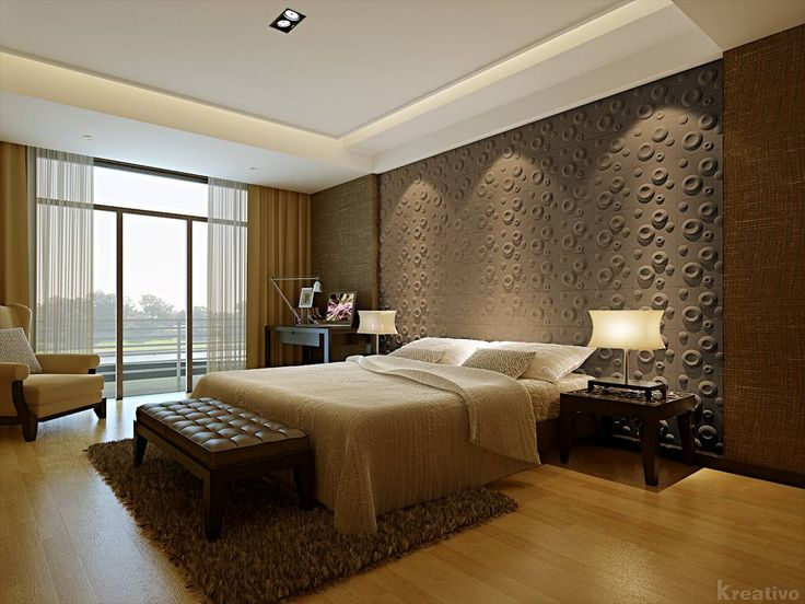 Awesome Modern Bedroom Headerboard Wallpaper Plus L;arge Glass Windows View  Landscape Outdoor From Bedroom