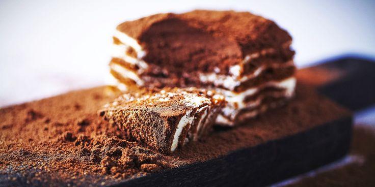 Заварной черемуховый торт