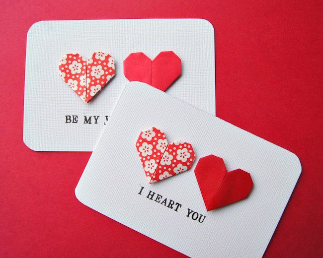 Omiyage Blogs: Send Pretty Mail #8/9 - Origami Heart Cards