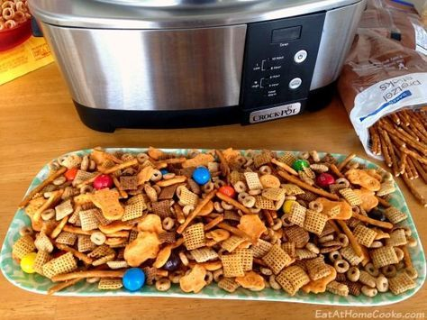 'Sweet Heat' Slow Cooker Chex Mix - Seriously SO GOOD!!!
