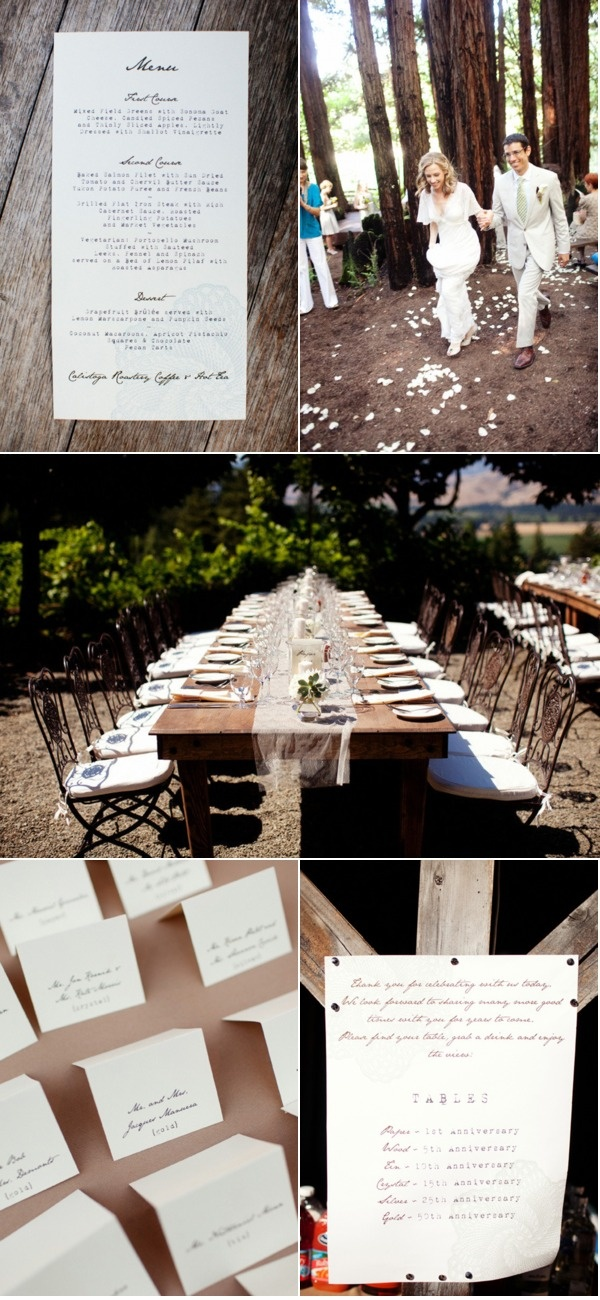 #wedding #table #decor #forest #rustic #natural: Good Ideas, Menu Cards, Wood Tables, Wedding Tables Decor, Exposed Wood